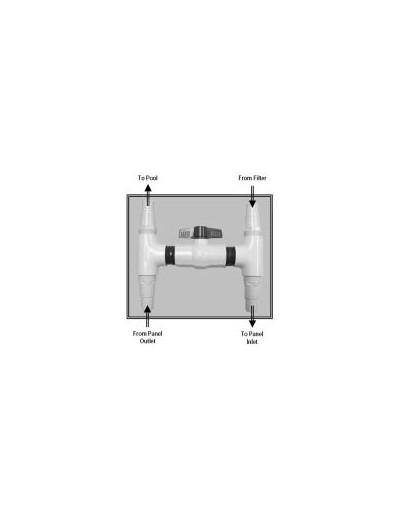 Vannes bi-pass pour pompe à chaleur.
