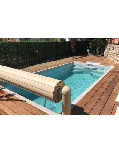 Volet blanc electrique hors sol by Luxe pools