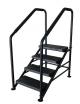 Escalier aluminium avec rampes